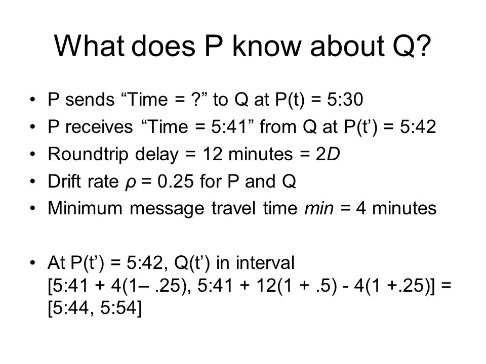 What does P know about Q.