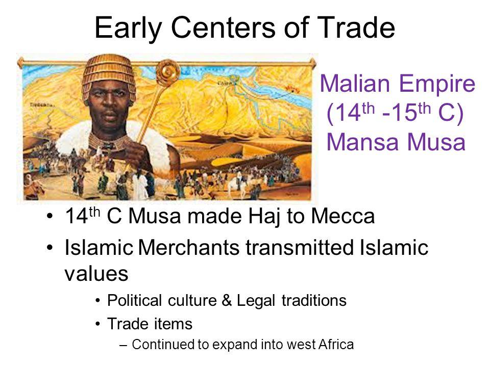 Trans-Saharan Trade Routes 1.