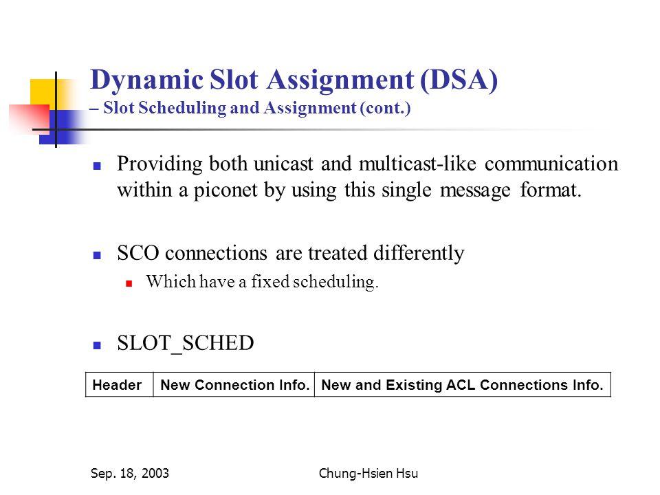Sep. 18, 2003Chung-Hsien Hsu Simulation (cont.) – Delay