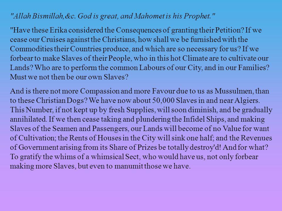 Allah Bismillah,&c.