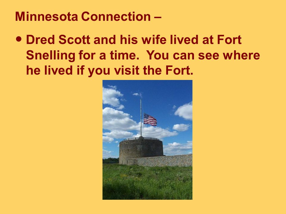His case, Dred Scott v. Sandford, reached the Supreme Court in 1856. The Supreme Court ruled that Dred Scott was not a U.S. citizen. As a result, he c