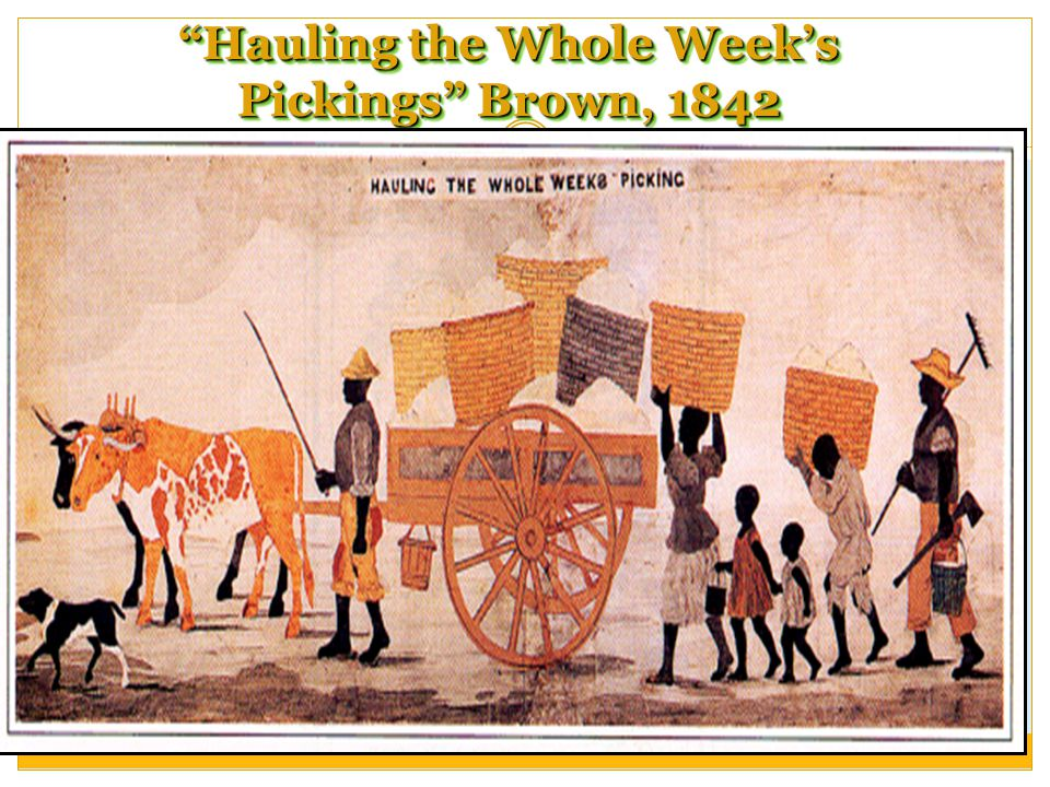 Hauling the Whole Week's Pickings Brown, 1842