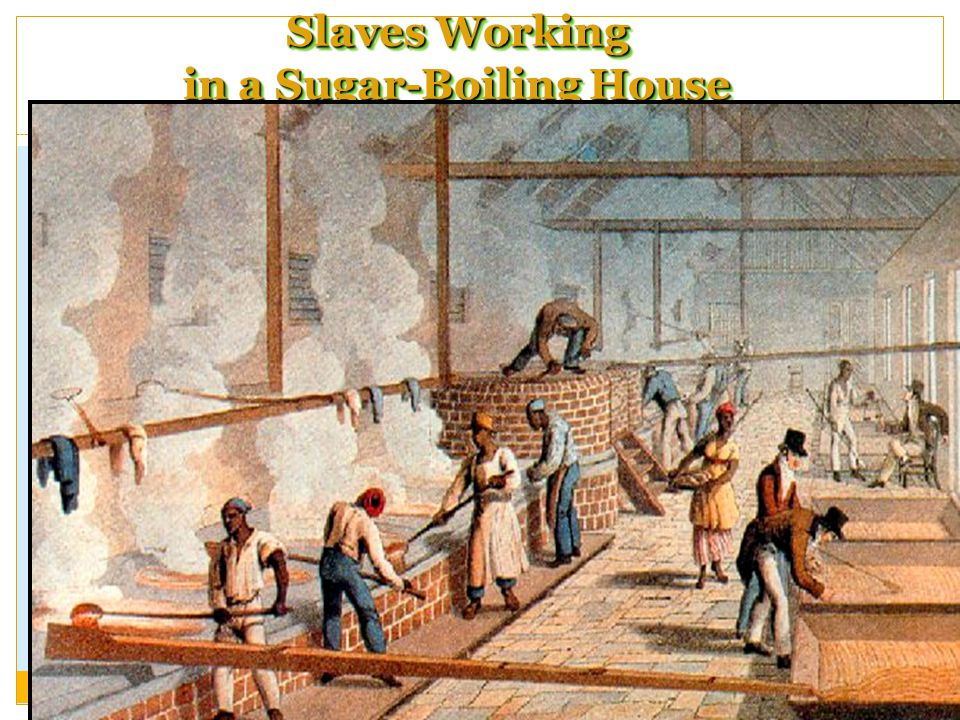 Slaves Working in a Sugar-Boiling House