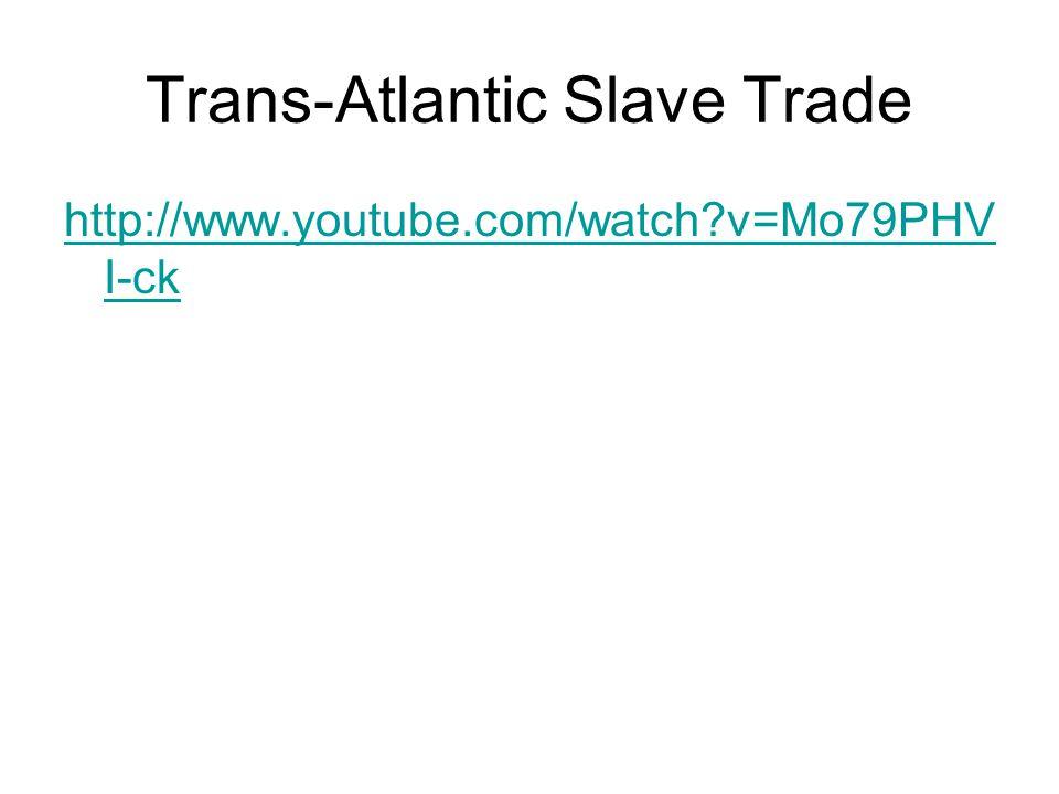 Trans-Atlantic Slave Trade http://www.youtube.com/watch?v=Mo79PHV I-ck