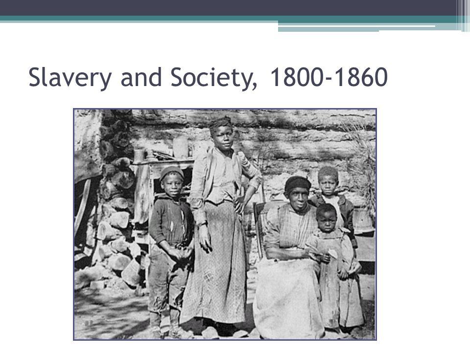 Slavery and Society, 1800-1860