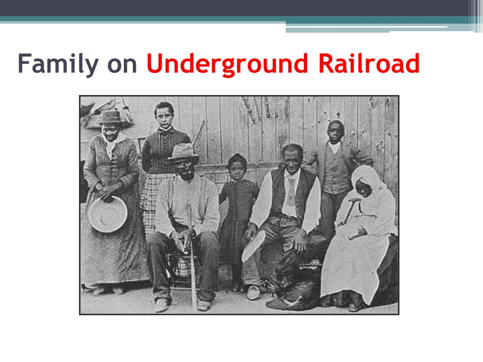 Family on Underground Railroad