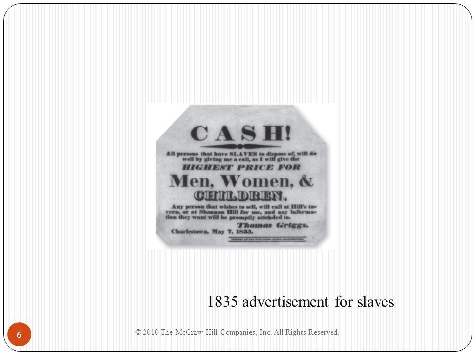 6 1835 advertisement for slaves