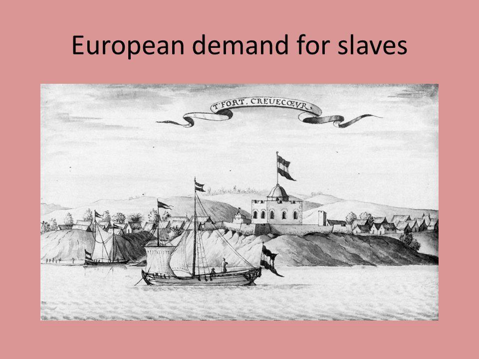 European demand for slaves