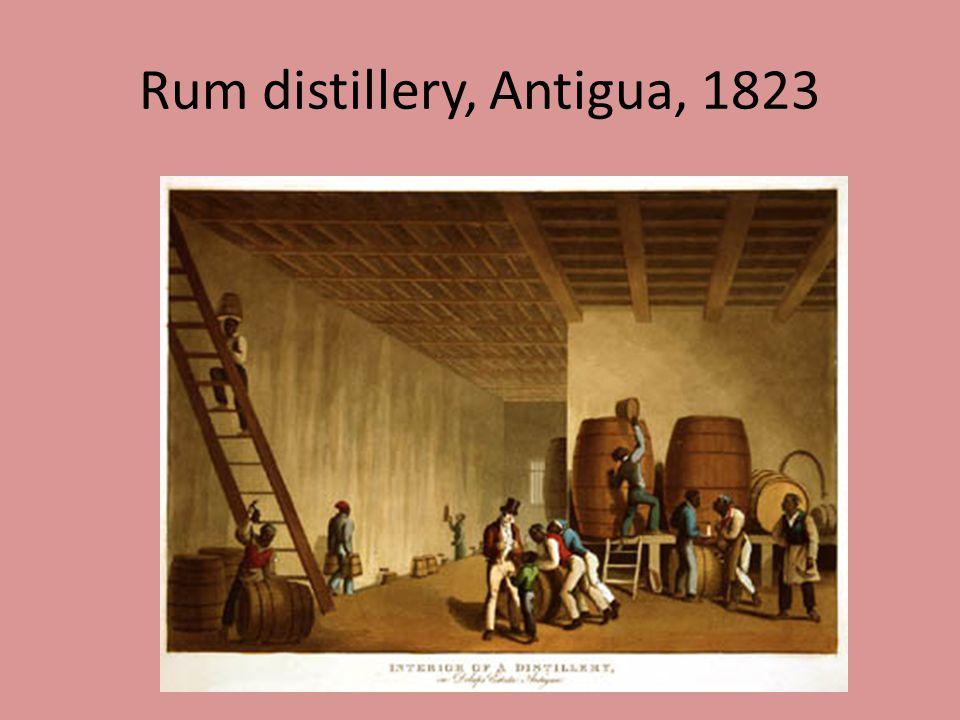 Rum distillery, Antigua, 1823