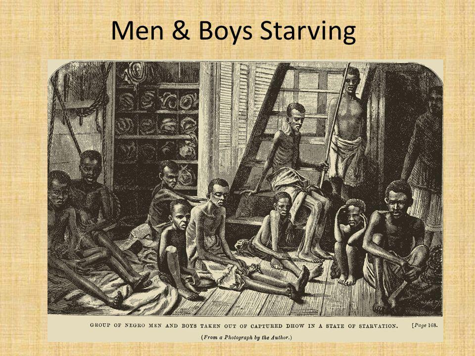 Men & Boys Starving