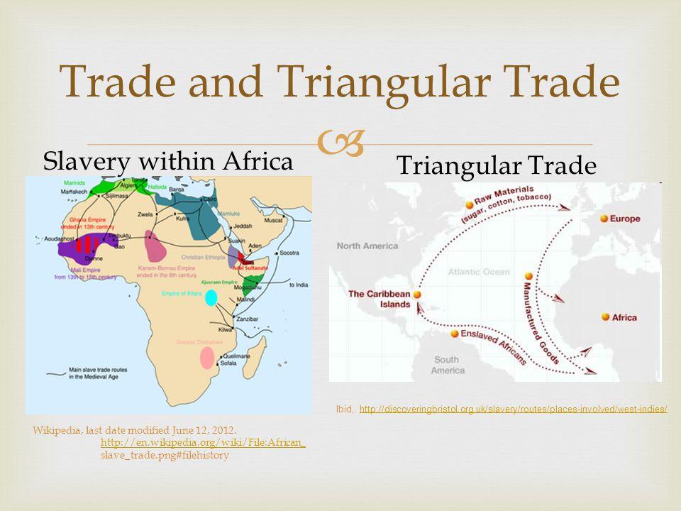  Trade and Triangular Trade Slavery within Africa Triangular Trade Ibid,.