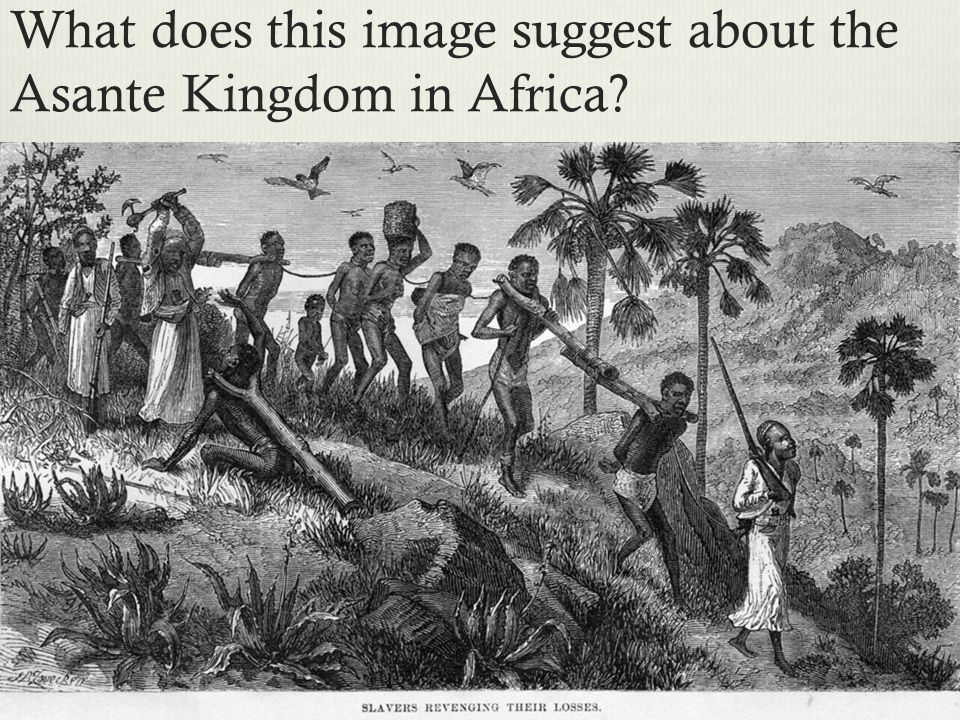What does this image suggest about the Asante Kingdom in Africa?