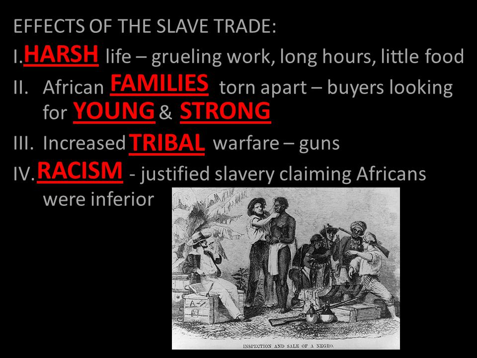 EFFECTS OF THE SLAVE TRADE: I.