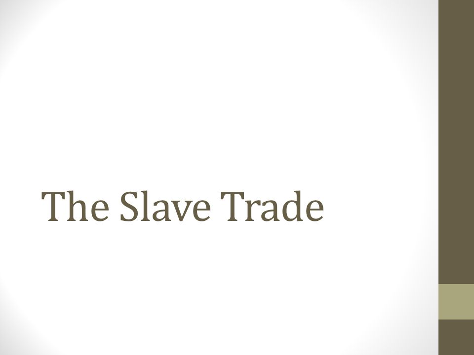 Background Information 1.Slavery is defined as when one person owns another as property.