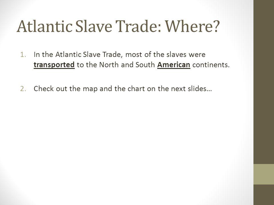Atlantic Slave Trade: Where.