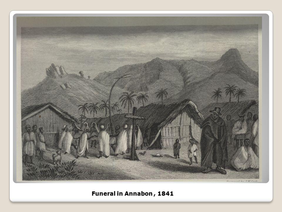 Funeral in Annabon, 1841