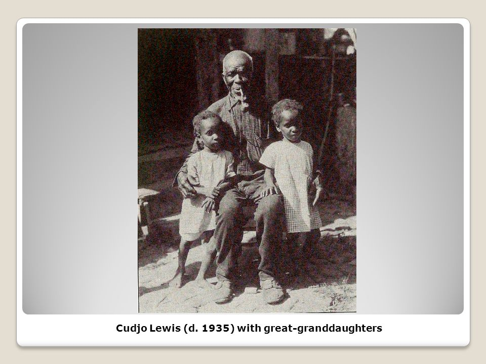 Cudjo Lewis (d. 1935) with great-granddaughters