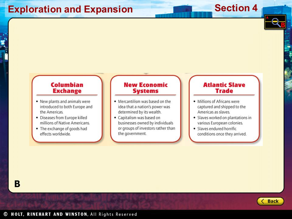 Exploration and Expansion Section 4