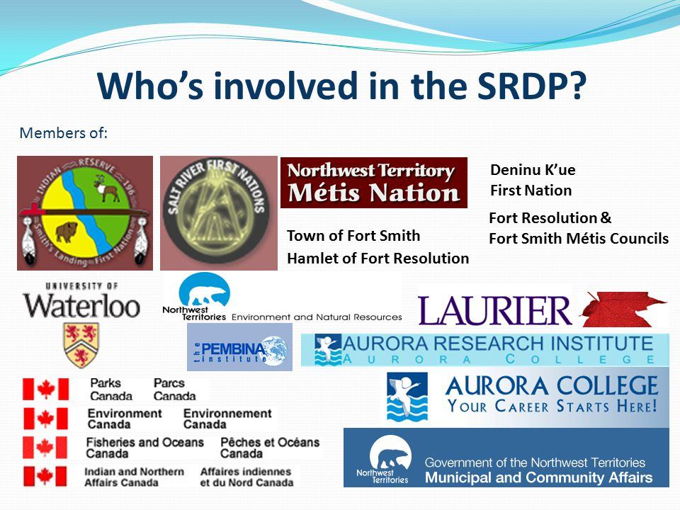 Who's involved in the SRDP.