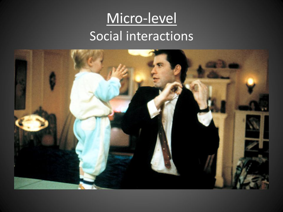 Micro-level Social interactions