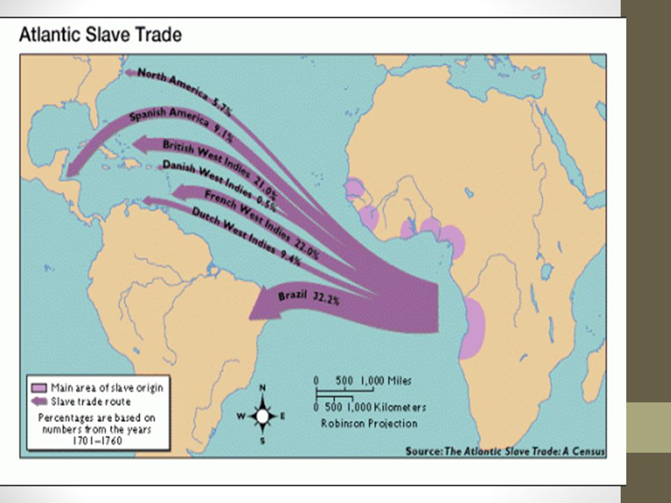 Middle Passage Terrifying ordeal Africans were chained together Forced into dark quarters below deck Packed so tight they could not sit or stand Journey lasted three to six weeks