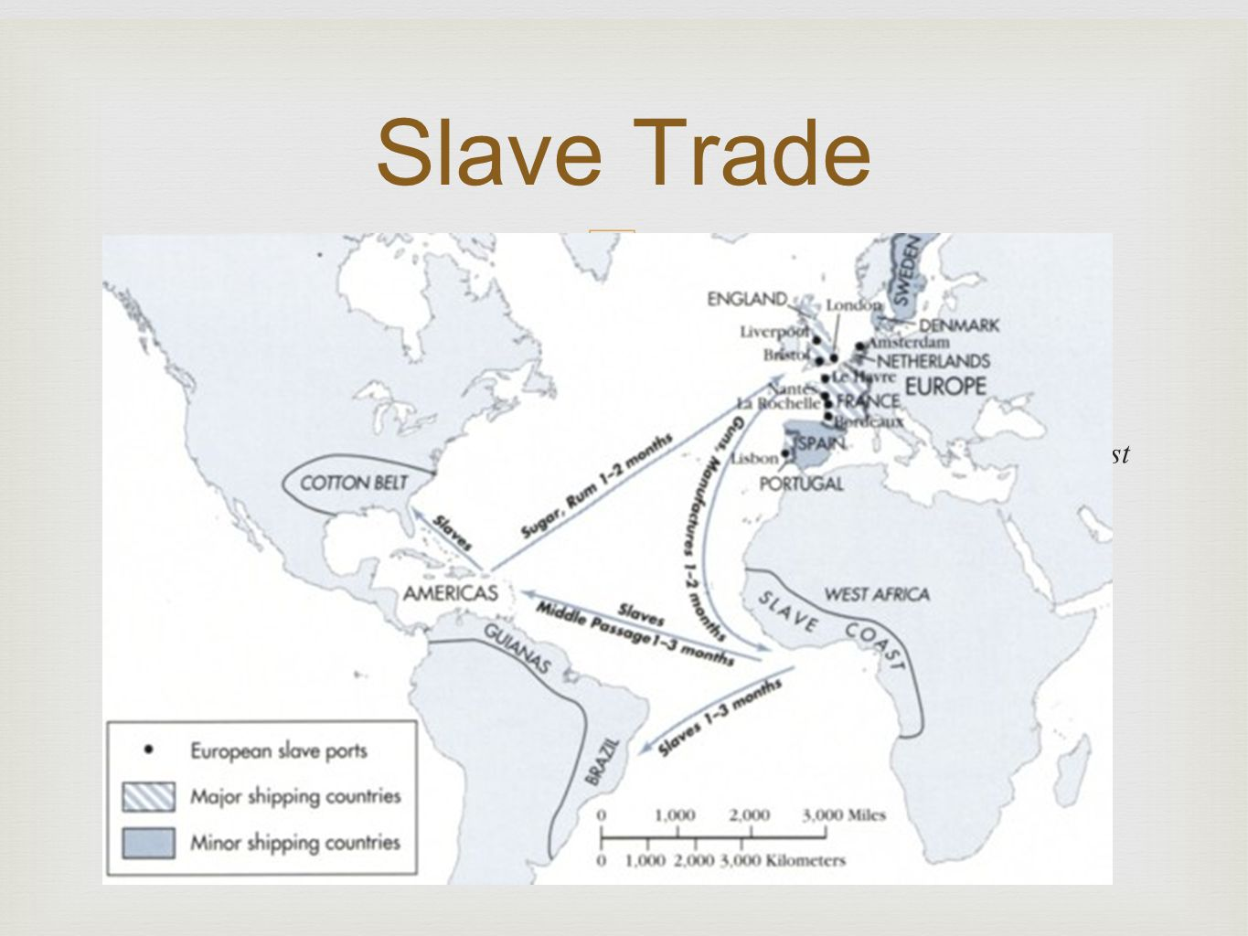 –  A. Africans : Part of the Transatlantic Trading Network  1.