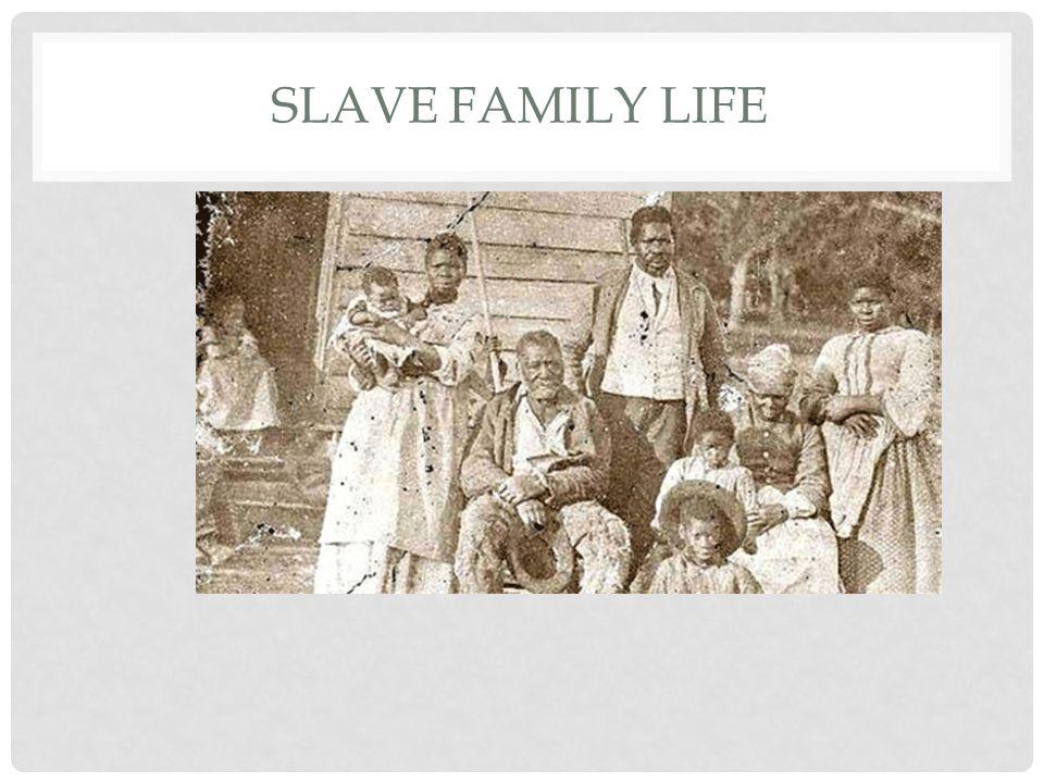 SLAVE FAMILY LIFE