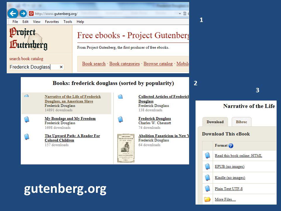 1 2 3 gutenberg.org