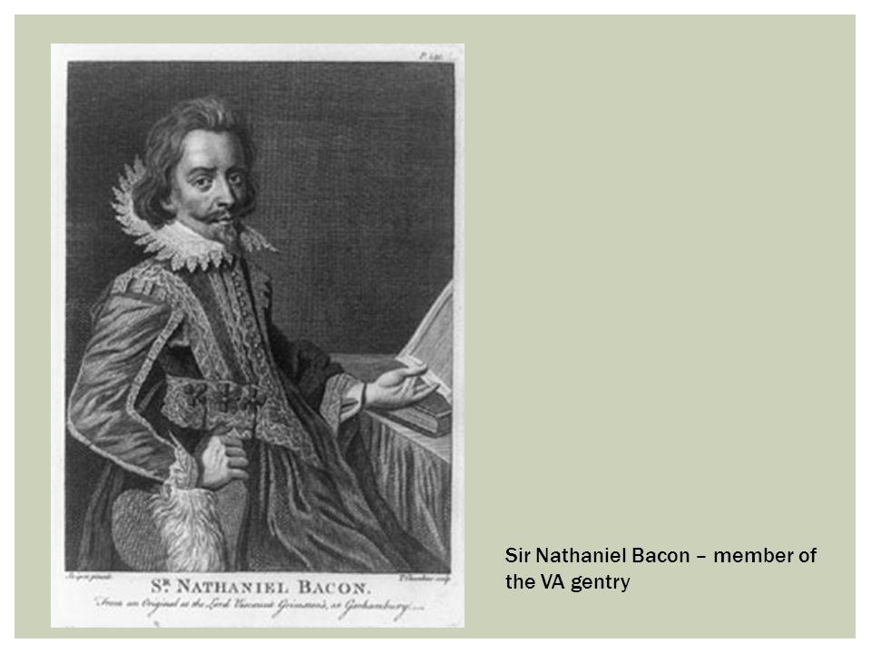 Sir Nathaniel Bacon – member of the VA gentry