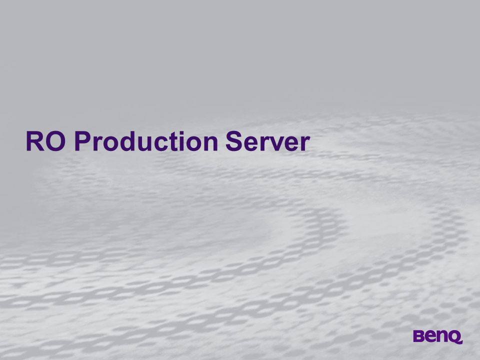 RO Production Server