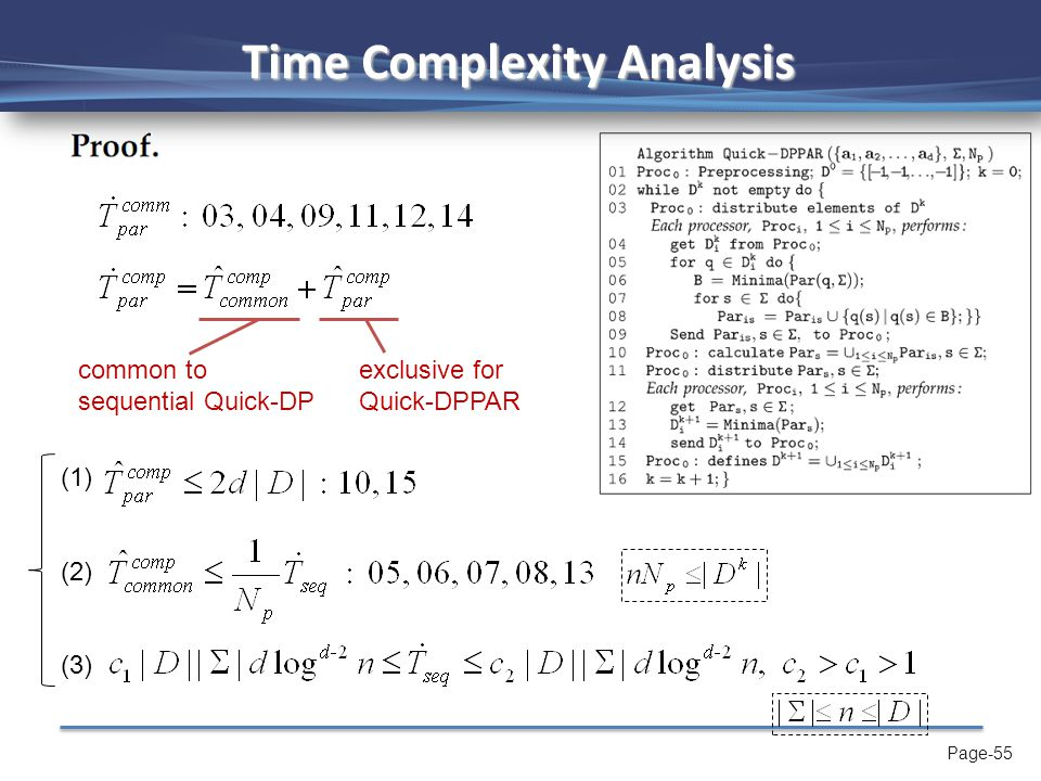 Page-56 Time Complexity Analysis --------------------(1) & (2) --------------------(3)