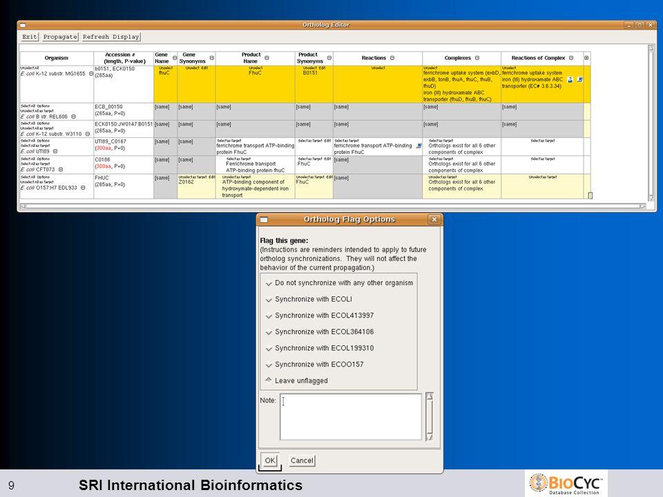 SRI International Bioinformatics 9