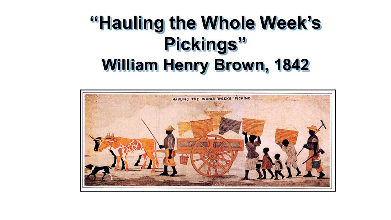 """Hauling the Whole Week's Pickings"" William Henry Brown, 1842"