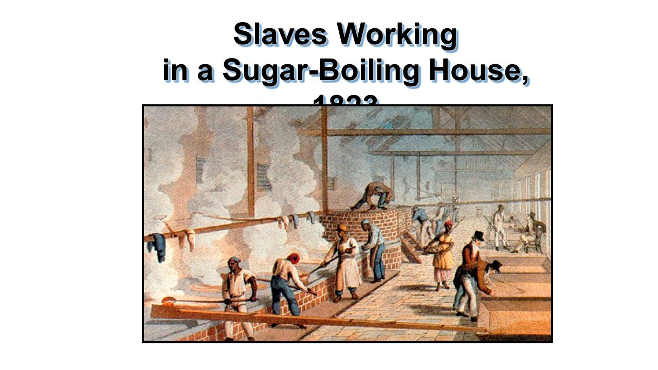 Slaves Working in a Sugar-Boiling House, 1823