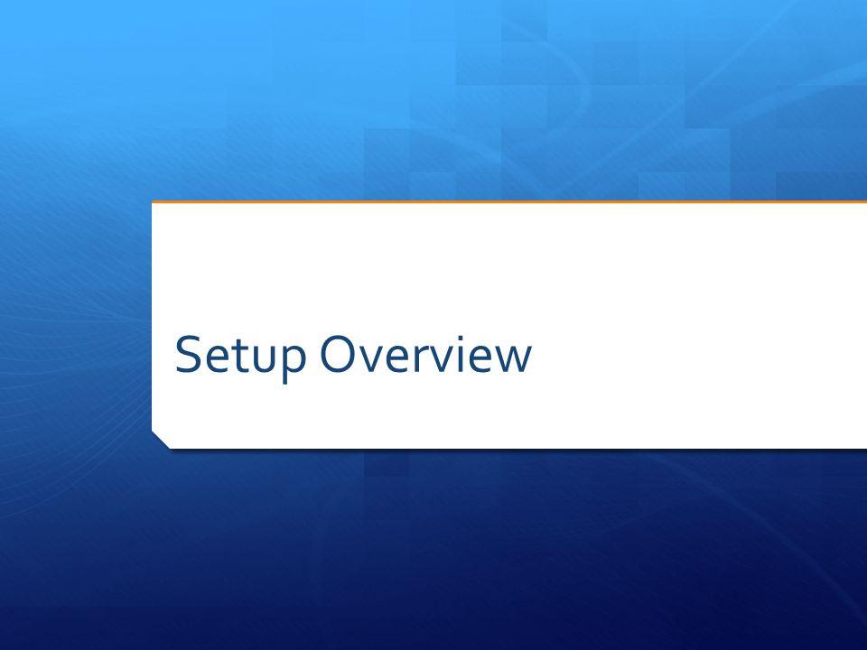 Setup Overview