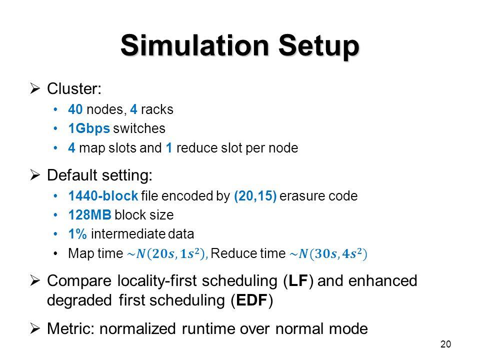 Simulation Setup 20