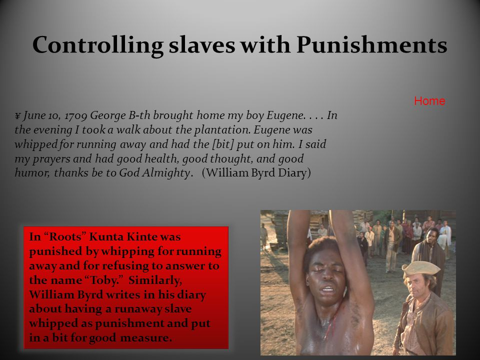 Controlling Slaves with Threats ¥ February 22, 1709..
