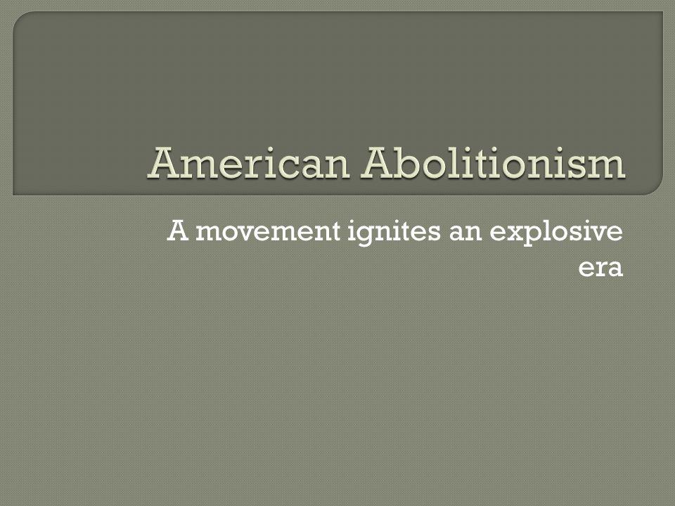 A movement ignites an explosive era