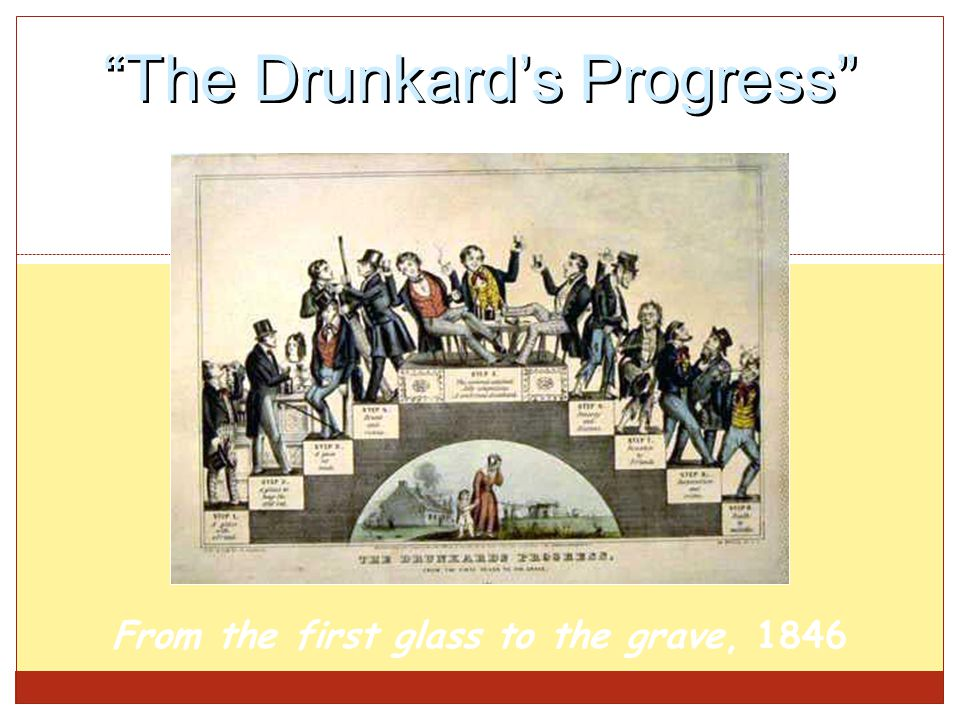 """The Drunkard's Progress"" From the first glass to the grave, 1846"