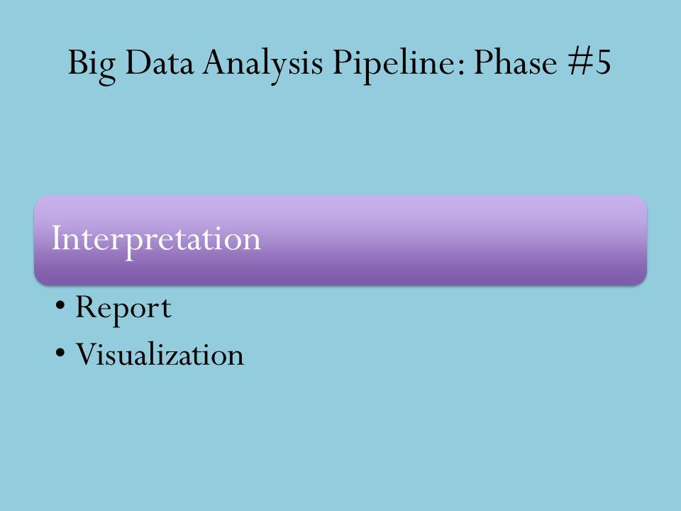 Big Data Analysis Pipeline: Phase #5 Interpretation Report Visualization