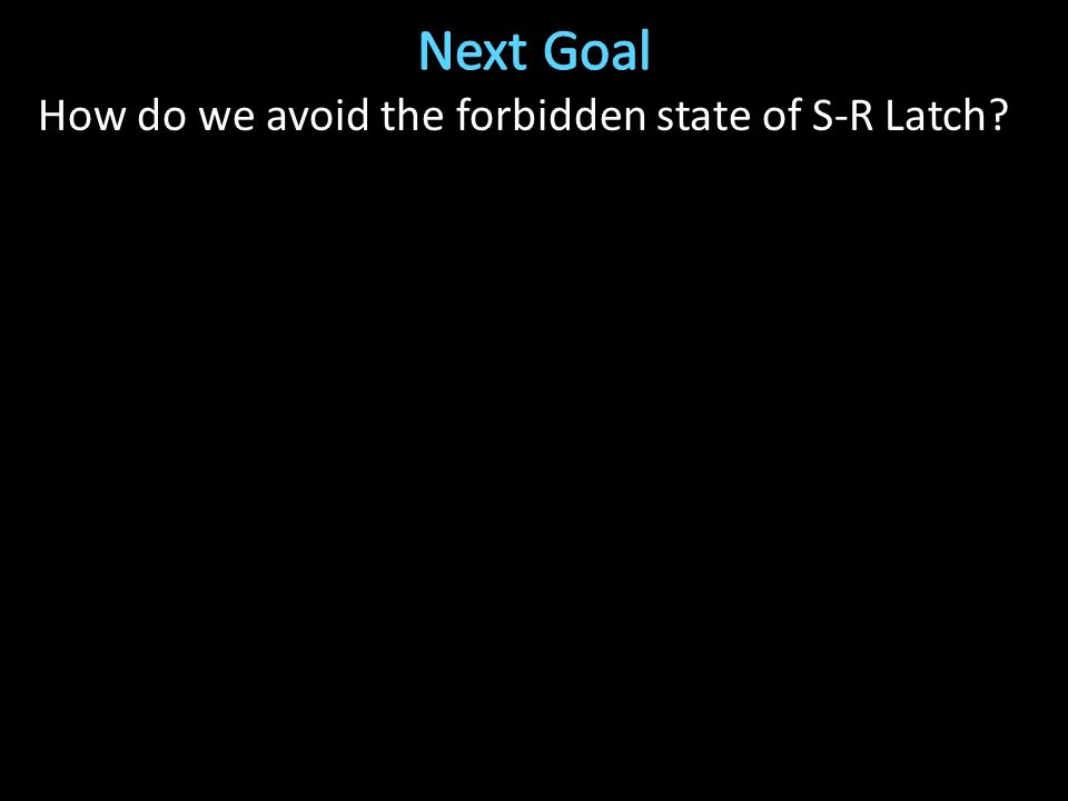 How do we avoid the forbidden state of S-R Latch