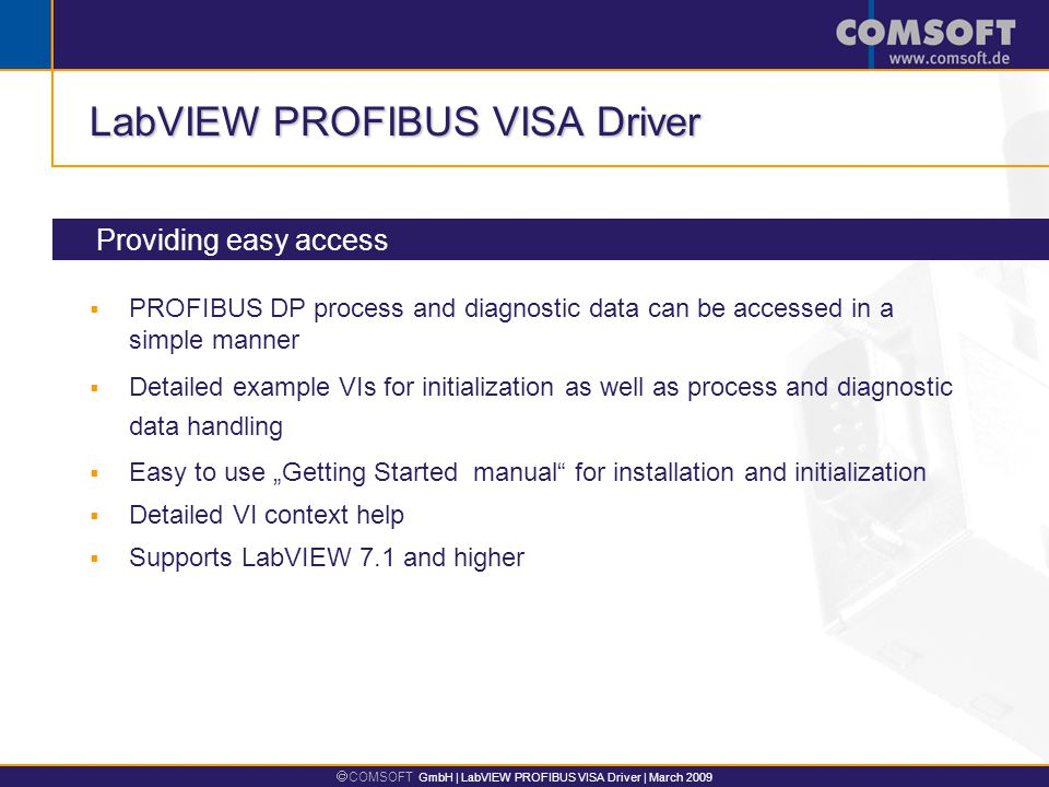""" COMSOFT GmbH 