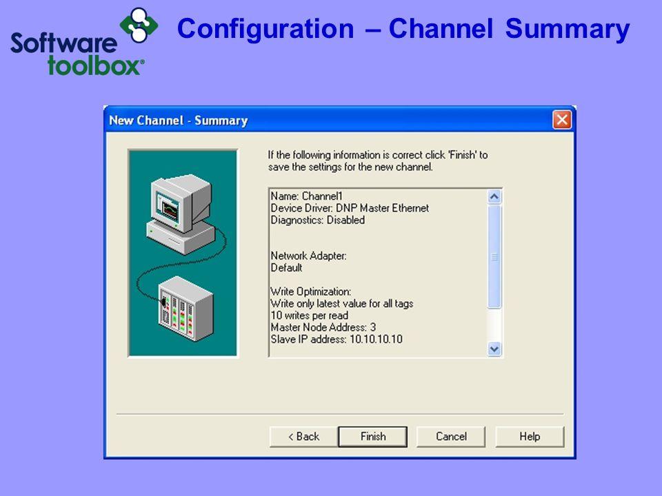 Configuration – Channel Summary