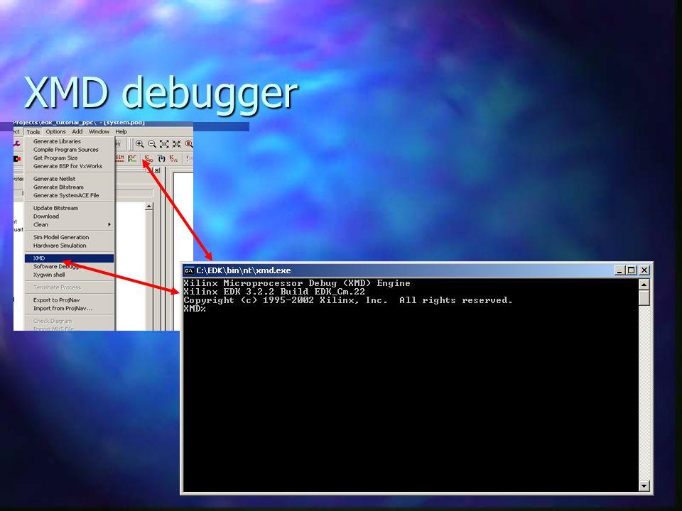 XMD debugger
