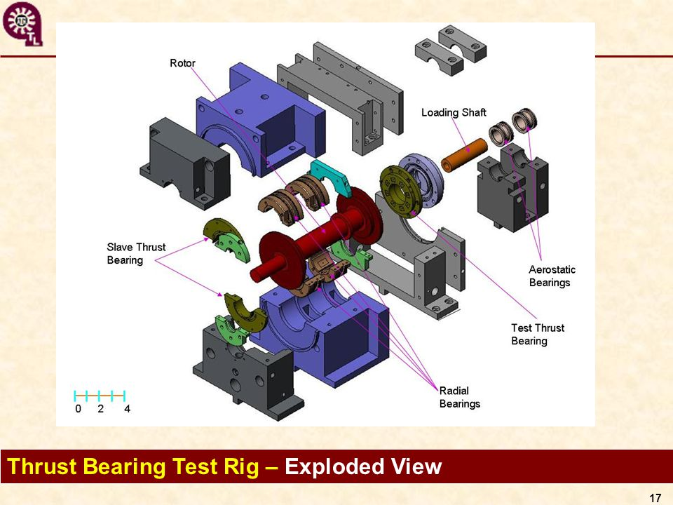 17 Thrust Bearing Test Rig – Exploded View