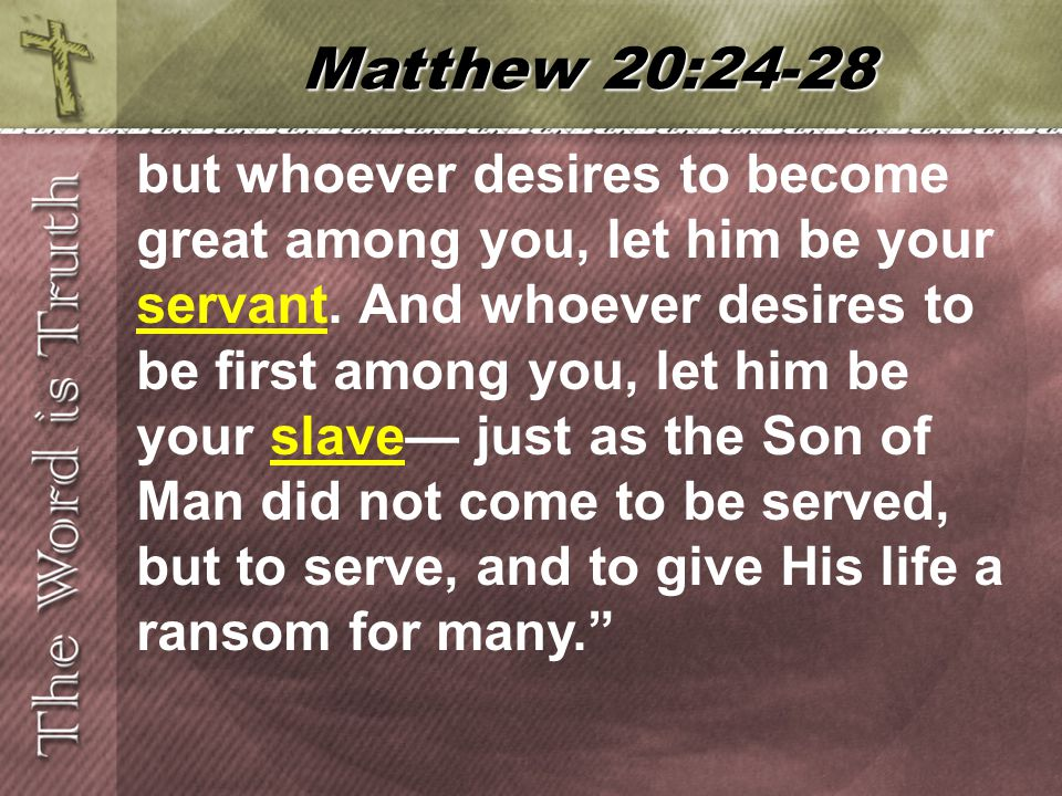 but whoever desires to become great among you, let him be your servant.
