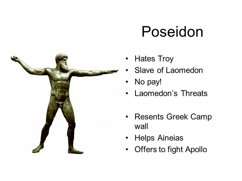 Poseidon Hates Troy Slave of Laomedon No pay.