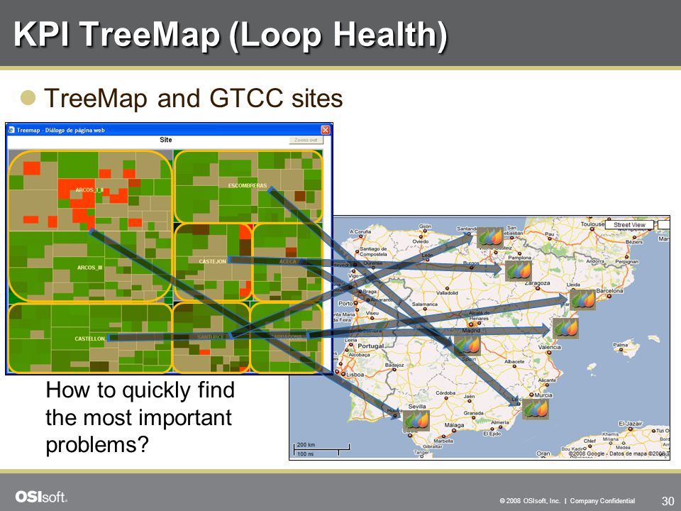 30 © 2008 OSIsoft, Inc. | Company Confidential KPI TreeMap (Loop Health) TreeMap and GTCC sites How to quickly find the most important problems?