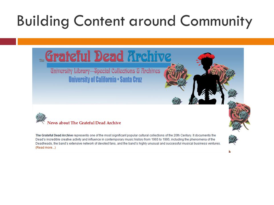 Building Content around Community