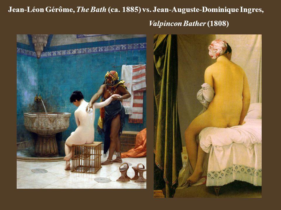 Jean-Léon Gérôme, The Bath (ca. 1885) vs. Jean-Auguste-Dominique Ingres, Valpincon Bather (1808)